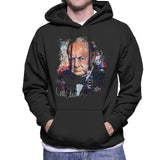 Sidney Maurer Original Portrait Of Winston Churchill Mens Hooded Sweatshirt - Mens Hooded Sweatshirt