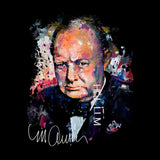 Sidney Maurer Original Portrait Of Winston Churchill Womens Sweatshirt - Womens Sweatshirt