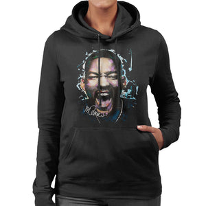 Sidney Maurer Original Portrait Of Will Smith Womens Hooded Sweatshirt - Womens Hooded Sweatshirt