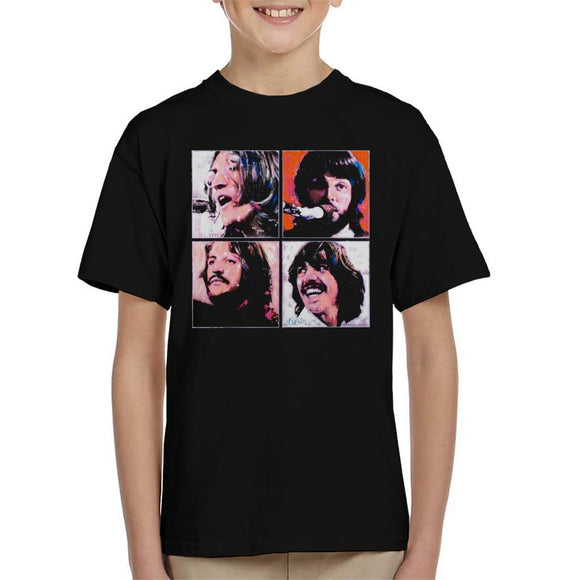 Sidney Maurer Original Portrait Of The Beatles Let It Be Kids T-Shirt - Kids Boys T-Shirt