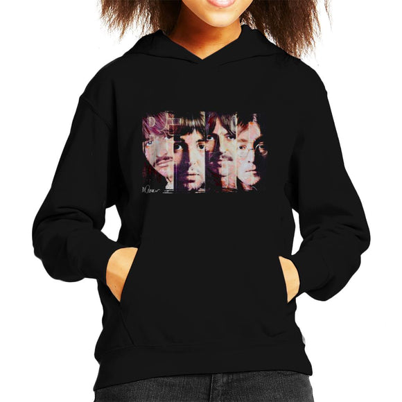 Sidney Maurer Original Portrait Of The Beatles Revolution Kid's Hooded Sweatshirt