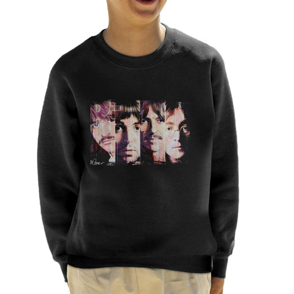 Sidney Maurer Original Portrait Of The Beatles Revolution Kid's Sweatshirt