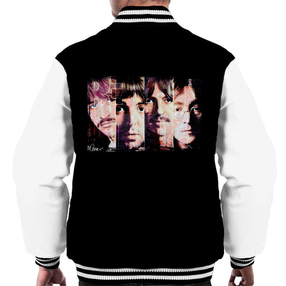 Sidney Maurer Original Portrait Of The Beatles Revolution Men's Varsity Jacket