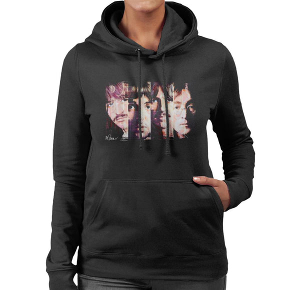 Sidney Maurer Original Portrait Of The Beatles Revolution Women's Hooded Sweatshirt
