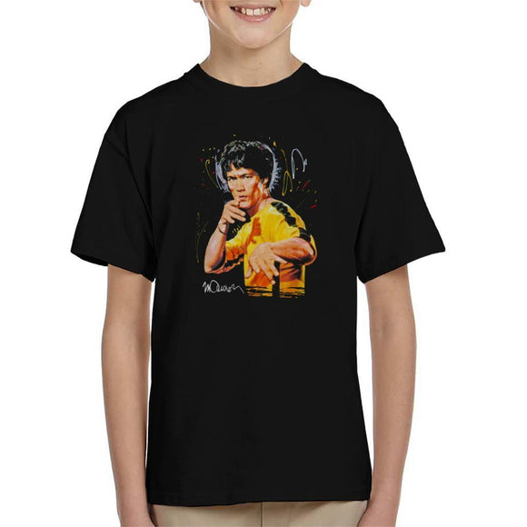 Sidney Maurer Original Portrait Of Bruce Lee Game Of Death Kids T-Shirt - Kids Boys T-Shirt
