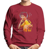 Sidney Maurer Original Portrait Of Bruce Lee Game Of Death Mens Sweatshirt - Small / Cherry Red - Mens Sweatshirt