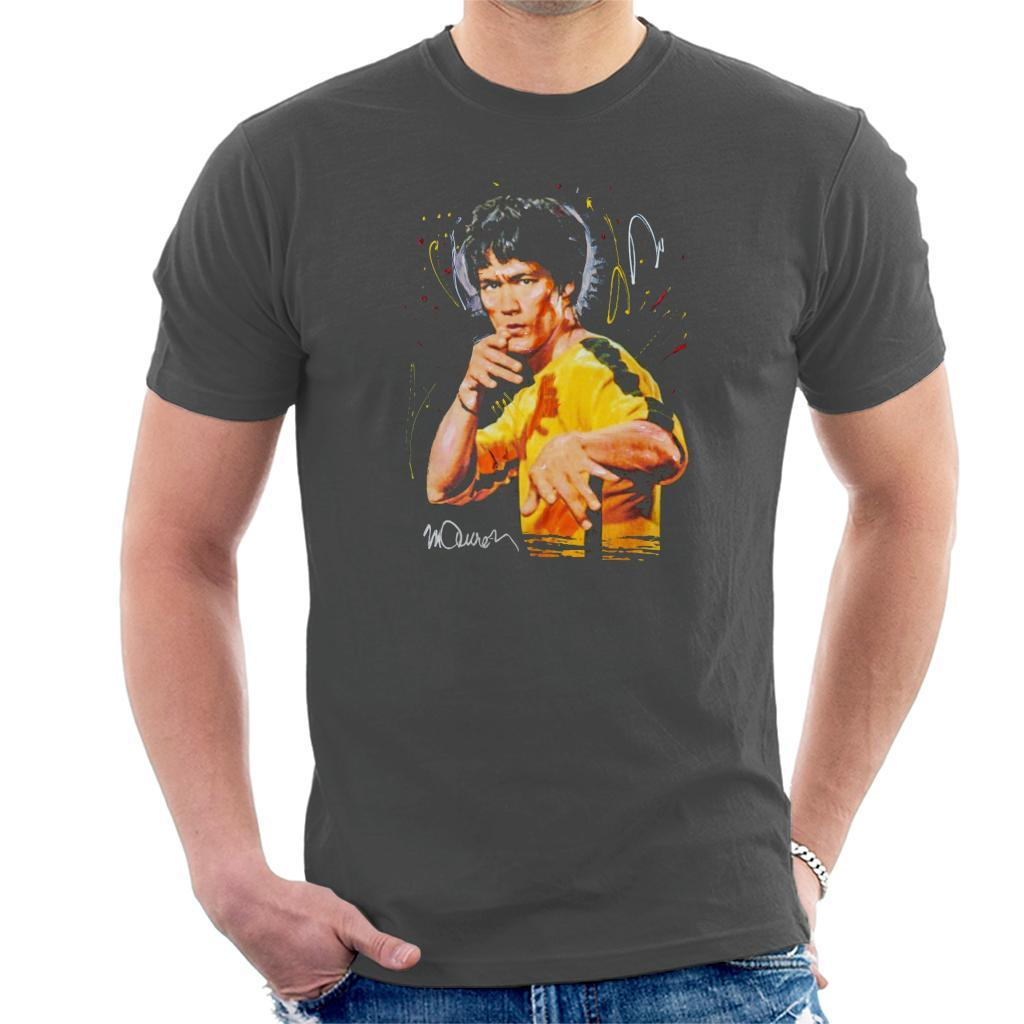 a910758f0 ... Sidney Maurer Original Portrait Of Bruce Lee Game Of Death Mens T-Shirt  - Mens ...