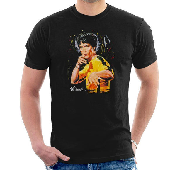 Sidney Maurer Original Portrait Of Bruce Lee Game Of Death Mens T-Shirt - Mens T-Shirt