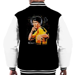 Sidney Maurer Original Portrait Of Bruce Lee Game Of Death Mens Varsity Jacket - Mens Varsity Jacket