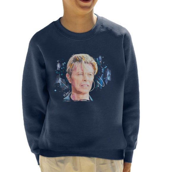 Sidney Maurer Original Portrait Of David Bowie Live Kids Sweatshirt - Kids Boys Sweatshirt
