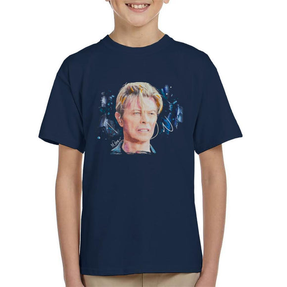Sidney Maurer Original Portrait Of David Bowie Live Kids T-Shirt - Kids Boys T-Shirt