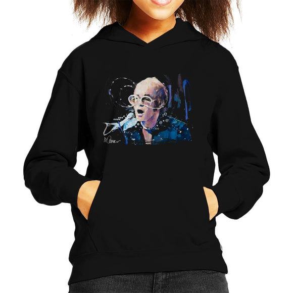 Sidney Maurer Original Portrait Of Elton John May Sunglasses Kid's Hooded Sweatshirt