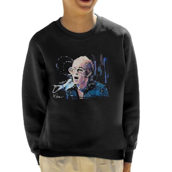 Sidney Maurer Original Portrait Of Elton John May Sunglasses Kid's Sweatshirt