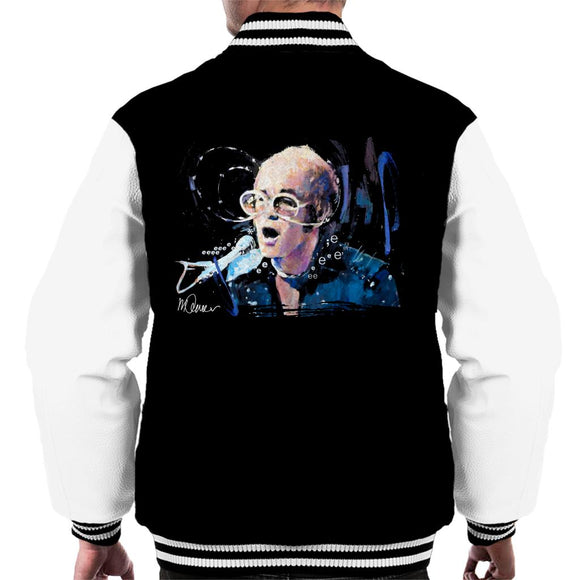 Sidney Maurer Original Portrait Of Elton John May Sunglasses Men's Varsity Jacket