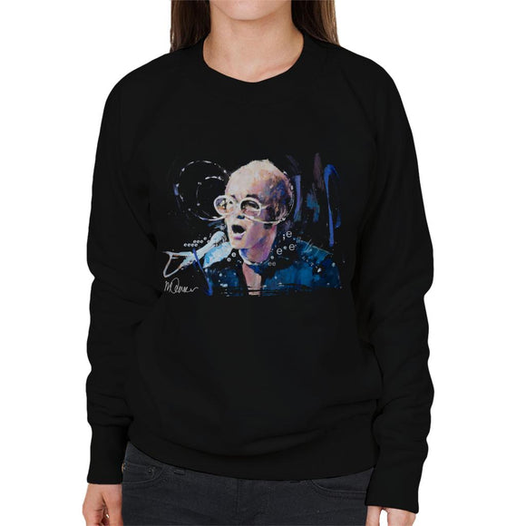 Sidney Maurer Original Portrait Of Elton John May Sunglasses Women's Sweatshirt