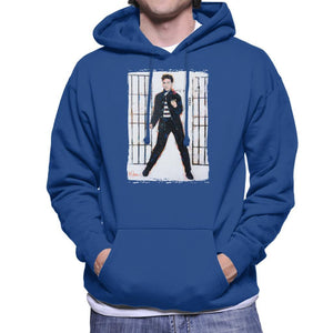 Sidney Maurer Original Portrait Of Elvis Presley Jailhouse Rock Mens Hooded Sweatshirt - Mens Hooded Sweatshirt