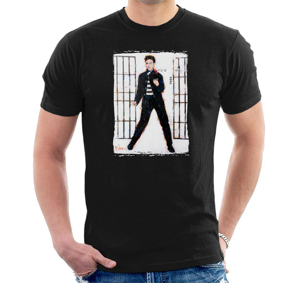 Sidney Maurer Original Portrait Of Elvis Presley Jailhouse Rock Men's T-Shirt