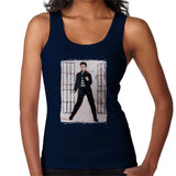 Sidney Maurer Original Portrait Of Elvis Presley Jailhouse Rock Womens Vest - Small / Navy Blue - Womens Vest