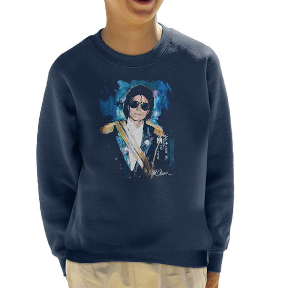 Sidney Maurer Original Portrait Of Michael Jackson 1984 Grammys Kids Sweatshirt - Kids Boys Sweatshirt