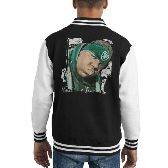 Sidney Maurer Original Portrait Of Notorious BIG Kids Varsity Jacket - Kids Boys Varsity Jacket