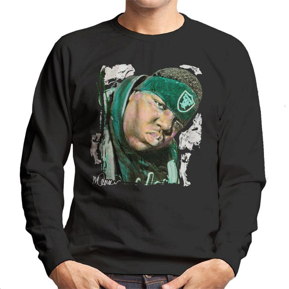 Sidney Maurer Original Portrait Of Notorious BIG Mens Sweatshirt - Mens Sweatshirt