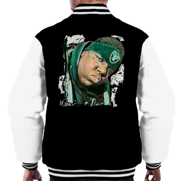 Sidney Maurer Original Portrait Of Notorious BIG Mens Varsity Jacket - Mens Varsity Jacket