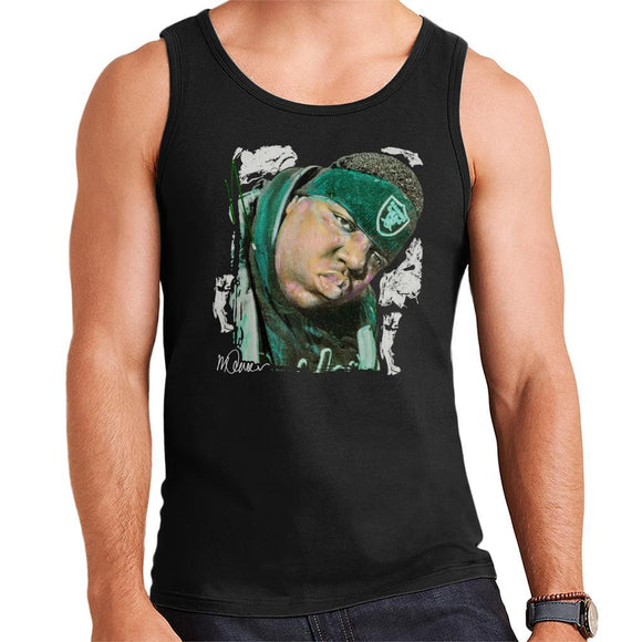 Sidney Maurer Original Portrait Of Notorious BIG Mens Vest - Mens Vest