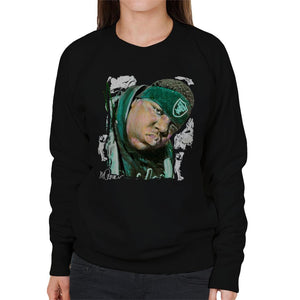 Sidney Maurer Original Portrait Of Notorious BIG Womens Sweatshirt - Womens Sweatshirt