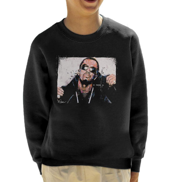 Sidney Maurer Original Portrait Of P Diddy Kids Sweatshirt - Kids Boys Sweatshirt