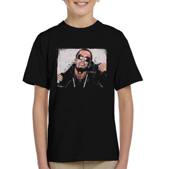 Sidney Maurer Original Portrait Of P Diddy Kids T-Shirt - Kids Boys T-Shirt
