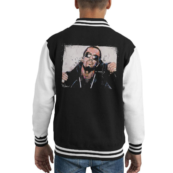 Sidney Maurer Original Portrait Of P Diddy Kids Varsity Jacket - Kids Boys Varsity Jacket