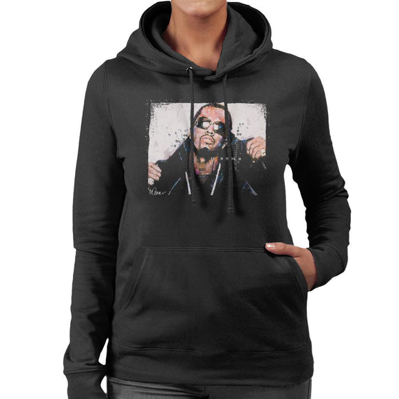 Sidney Maurer Original Portrait Of P Diddy Womens Hooded Sweatshirt - Womens Hooded Sweatshirt