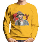 Sidney Maurer Original Portrait Of Pharrel Williams Live Mens Sweatshirt - Small / Gold - Mens Sweatshirt