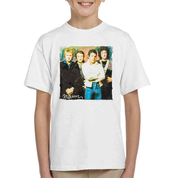 Sidney Maurer Original Portrait Of Queen Kids T-Shirt - Kids Boys T-Shirt