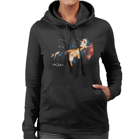 Sidney Maurer Original Portrait Of Rihanna Nude Womens Hooded Sweatshirt - Womens Hooded Sweatshirt