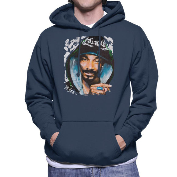 Sidney Maurer Original Portrait Of Snoop Dogg Smoking Mens Hooded Sweatshirt - Mens Hooded Sweatshirt