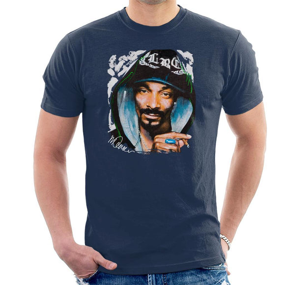 Sidney Maurer Original Portrait Of Snoop Dogg Smoking Mens T-Shirt - Mens T-Shirt