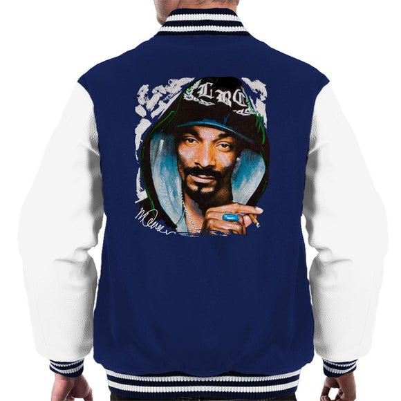 Sidney Maurer Original Portrait Of Snoop Dogg Smoking Mens Varsity Jacket - Mens Varsity Jacket