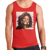 Sidney Maurer Original Portrait Of Whitney Houston Triangle Earrings Mens Vest - Small / Red - Mens Vest