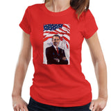 Sidney Maurer Original Portrait Of Barack Obama Womens T-Shirt - Womens T-Shirt