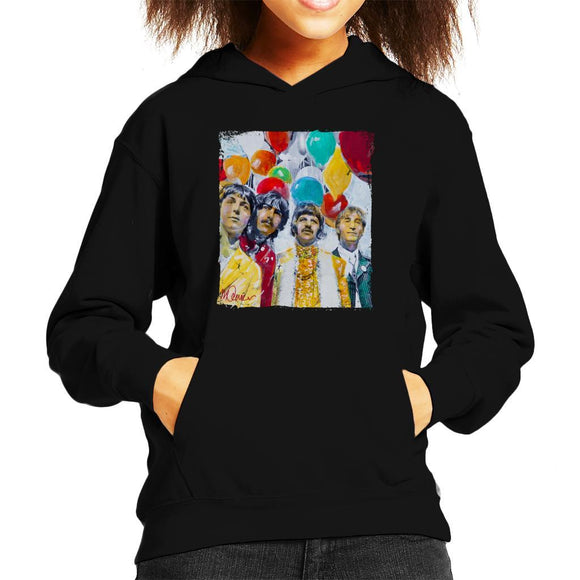 Sidney Maurer Original Portrait Of The Beatles Sgt Peppers 1967 Kids Hooded Sweatshirt - Kids Boys Hooded Sweatshirt