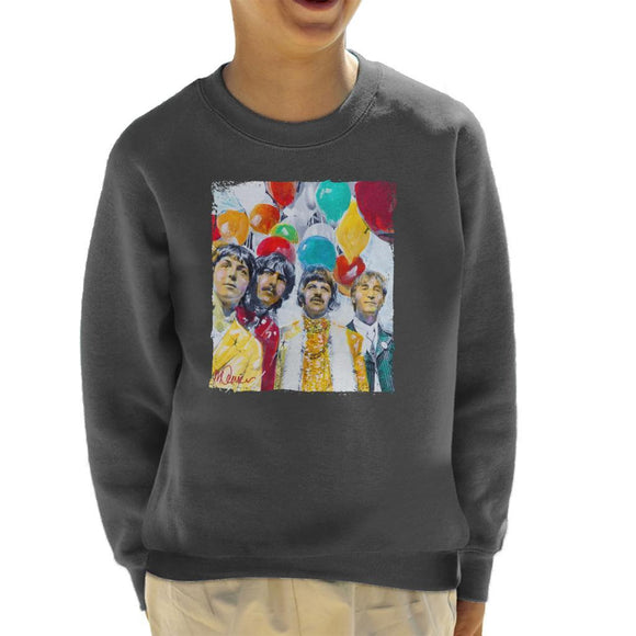 Sidney Maurer Original Portrait Of The Beatles Sgt Peppers 1967 Kids Sweatshirt - Kids Boys Sweatshirt