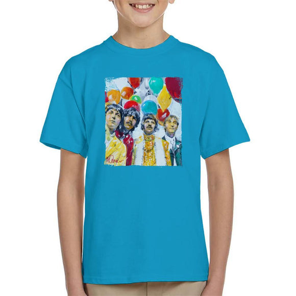 Sidney Maurer Original Portrait Of The Beatles Sgt Peppers 1967 Kids T-Shirt - Kids Boys T-Shirt