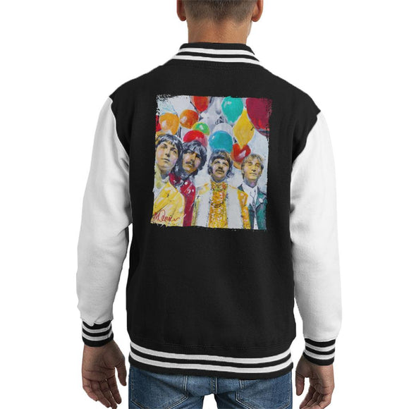 Sidney Maurer Original Portrait Of The Beatles Sgt Peppers 1967 Kids Varsity Jacket - Kids Boys Varsity Jacket