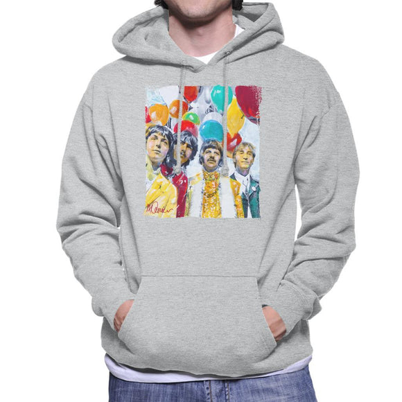 Sidney Maurer Original Portrait Of The Beatles Sgt Peppers 1967 Mens Hooded Sweatshirt - Mens Hooded Sweatshirt