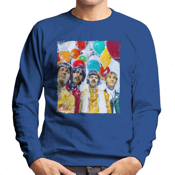 Sidney Maurer Original Portrait Of The Beatles Sgt Peppers 1967 Mens Sweatshirt - Mens Sweatshirt