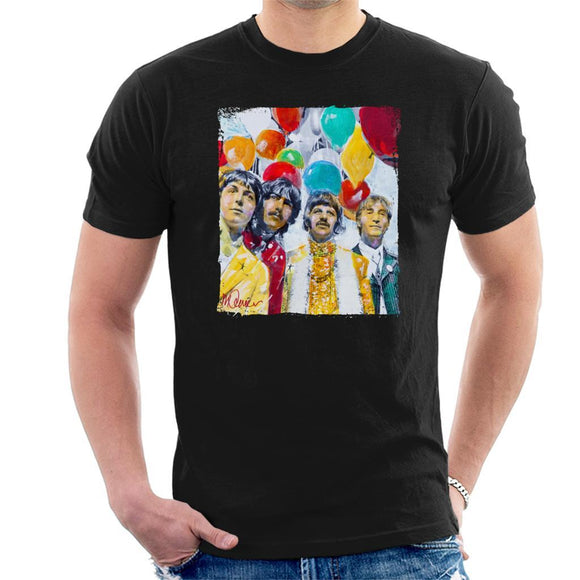 Sidney Maurer Original Portrait Of The Beatles Sgt Peppers 1967 Mens T-Shirt - Mens T-Shirt