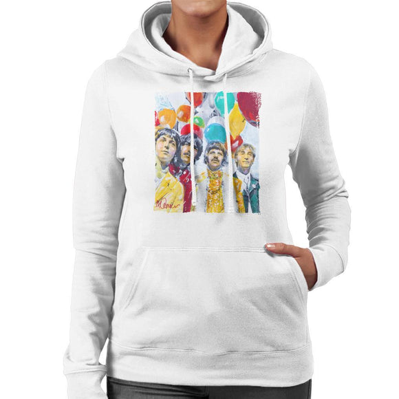 Sidney Maurer Original Portrait Of The Beatles Sgt Peppers 1967 Womens Hooded Sweatshirt - Womens Hooded Sweatshirt