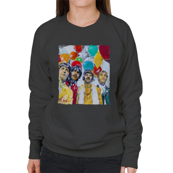 Sidney Maurer Original Portrait Of The Beatles Sgt Peppers 1967 Womens Sweatshirt - Womens Sweatshirt