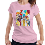 Sidney Maurer Original Portrait Of The Beatles Sgt Peppers 1967 Womens T-Shirt - Light Pink / Small - Womens T-Shirt